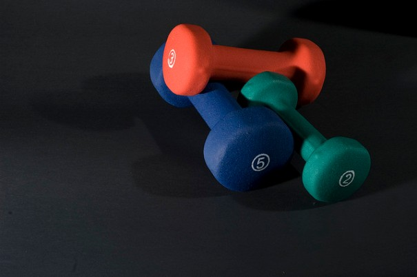 exercise equipment dumbbells