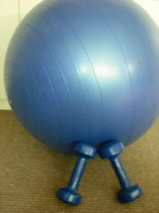 Dumbbells and ball