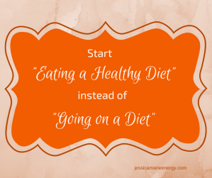 start eating a healthy diet