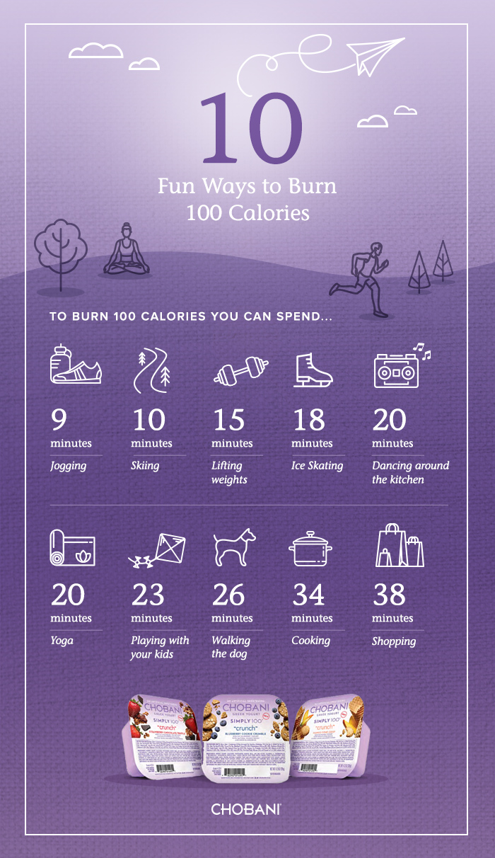 Chobani 100 fun ways to burn 100 calories